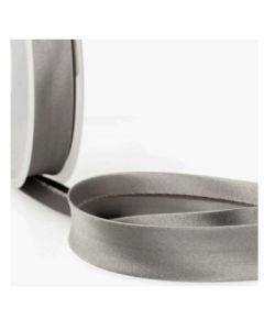 Satin Bias Binding - Medium Grey