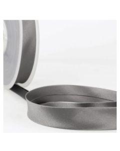 Satin Bias Binding - Grey Black
