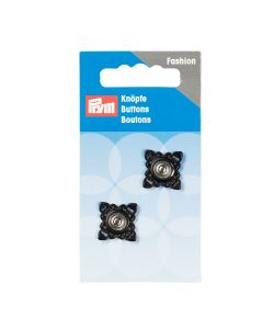 Prym Sew On Snaps - 21mm Square Black