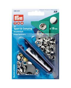 Prym Snap Fastners 15mm Silver