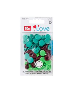 Prym Love 'Color Snaps' Plastic Snap Fastners - Green/Brown