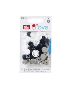 Prym Love 'Color Snaps' Plastic Snap Fastners - Black/White