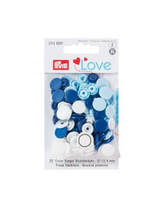 Prym Love 'Color Snaps' Plastic Snap Fastners - Blue/White