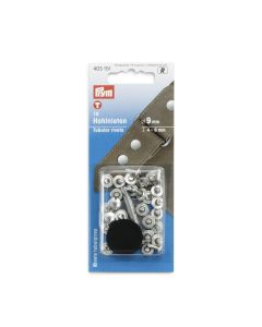Prym 6mm Rivet Kit for thicker fabrics- Silver 15 sets
