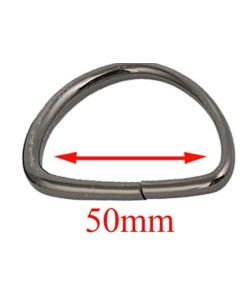 50mm D Rings - Gunmetal