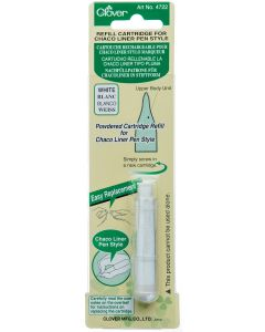 Clover Chaco Liner Chalk Pen Refill - White