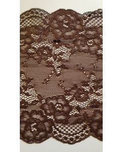 6.5 inch wide stretch lace Brown