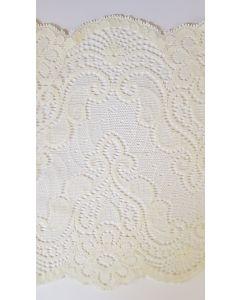 Stretch lace Cream - 7 inch wide