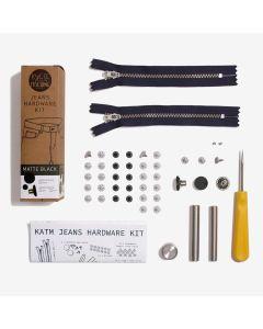 Kylie and the Machine - Jeans Hardware Kit 19cm Black Zip/Matt Black Hardware