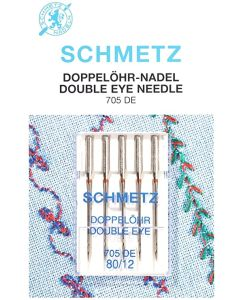 Schmetz Double Eye Machine Needles Size 80