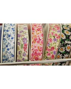 Bias Binding PolyCotton Floral 20mm wide - 7 Shades Available