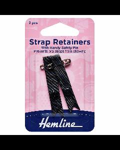 Hemline Shoulder Strap Retainers Black