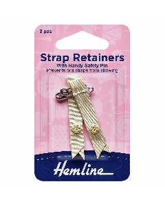 Shoulder Strap Retainers Beige