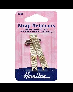 Hemline Shoulder Strap Retainers Beige