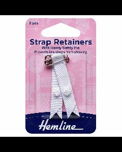 Hemline Shoulder Strap Retainers White