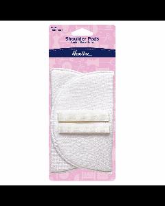 Hemline Shoulder Pads 13mm Small White