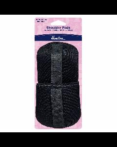 Hemline Shoulder Pads 13mm S/M Black