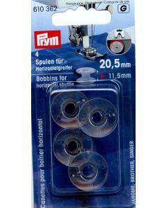 Prym Bobbins for horizontal shuttle 20.5mm 4pc