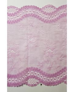 Stretch lace Lilac - 7 inch wide