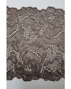 6 inch wide stretch lace Mink