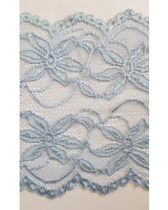 6 inch wide stretch lace Pale Blue