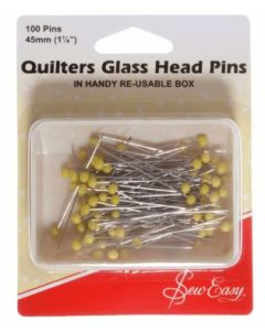 Quilters Glass Headed Pins