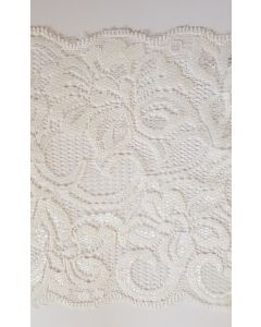 6 inch wide stretch lace White