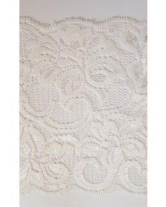 Stretch lace White - 6 inch wide
